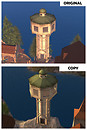 Copybotted water tower