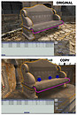 Copybotted stone bench