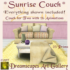 *Sunrise* Couch Set - Dreamscapes Art Gallery