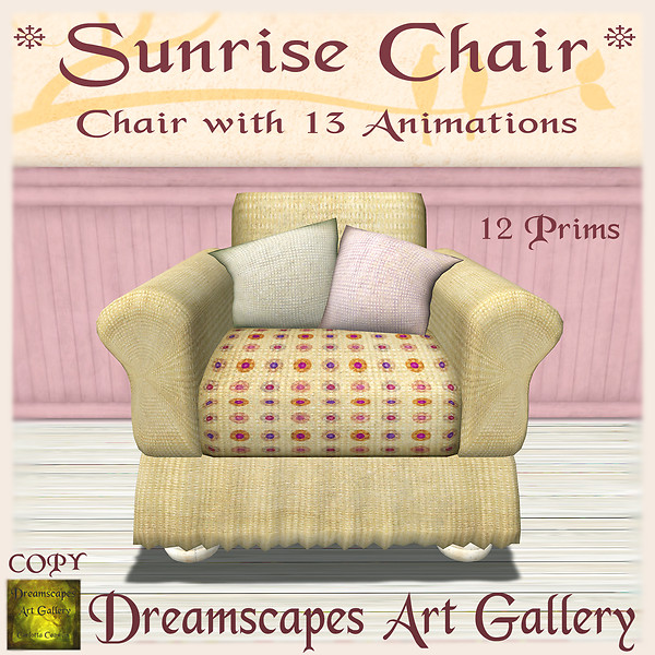 *Sunrise* Chair - Dreamscapes Art Gallery