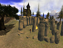 Fourmile Castle - standing stones outside the castle_001