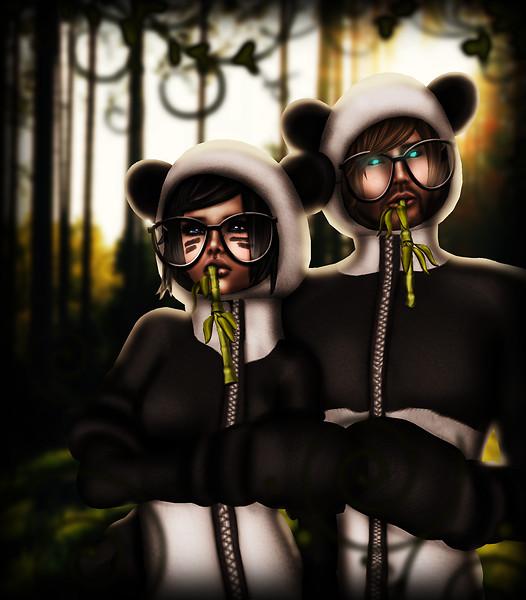 Kawaii Panda Couple