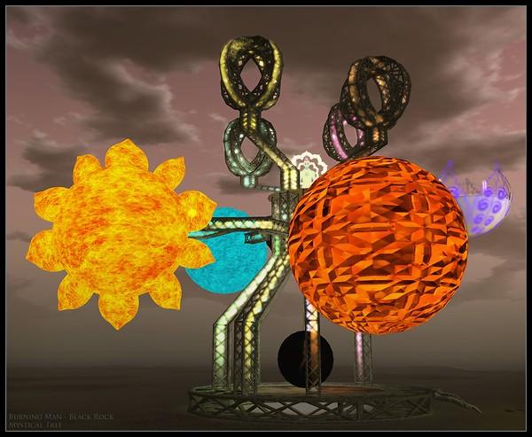 Burning Man Black Rock - Mystical Tree
