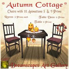 *Autumn Cottage* Set - Dreamscapes Art Gallery