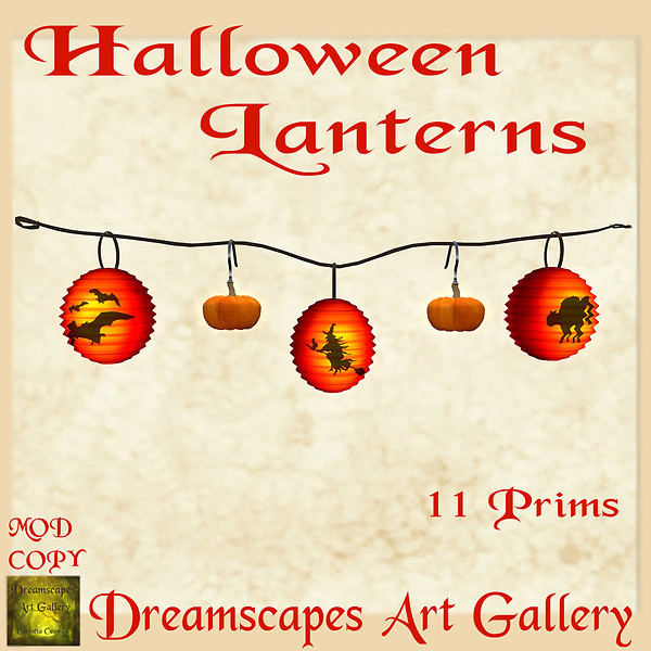 Halloween Lanterns & Pumpkins - Dreamscapes Art Gallery