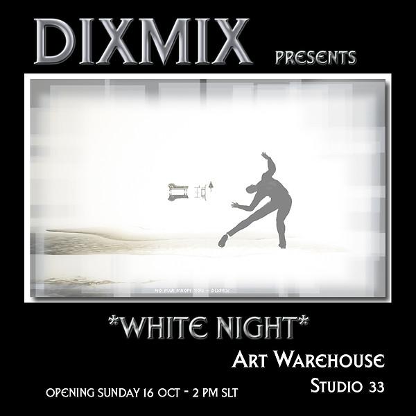 white night art warehouse