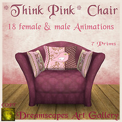 *Think Pink* Chair with 18 animations - Dreamscapes Art Gallery