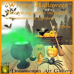 *Witchy Halloween* - Dreamscapes Art Gallery for ZombiePopcorn Hunt 5