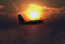 Aero Commander at Sunset