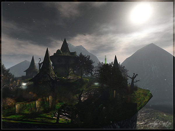 Halloween's village