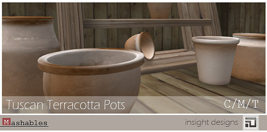 Tuscan Terracotta Pots BUILDERS KIT by insight designs