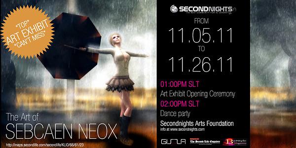 Secondnights Art Foundation presents the Art of Sebcaen Neox