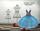 *Pois in Paris* Dress Blue