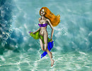 Gabriella under the sea