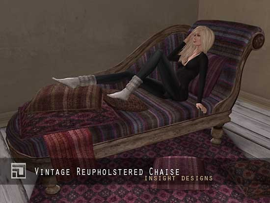 vintage reupholstered chaise by insight designs 2