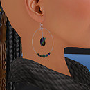 QT SC GL Silver Faceted Loop earring