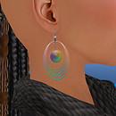 QT Sc GL Rainbow 5 Loops earring