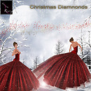 ruxy-Christmas Diamonds red