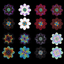 QT afghan rug flowers blur texture