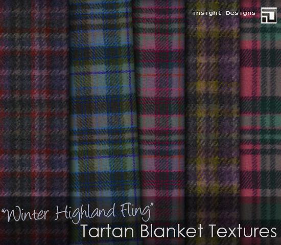 winter highland fling tartan blanket textures by insight designs