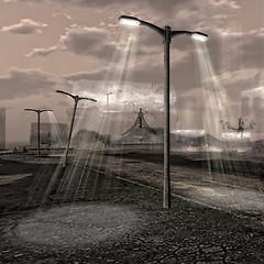 streetlamp in the night