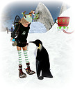 Soni and Penguin Friend