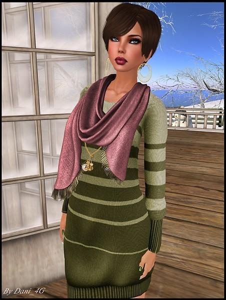 Oslo Sweater Dress in Olive