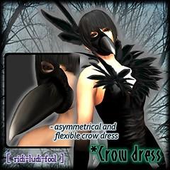 [ ridi-ludi-fool ] *Crow dress POP1