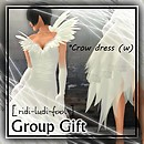 [ ridi-ludi-fool ] G gift *Crow dress (w) POP