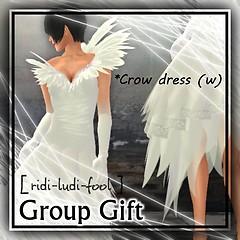 [ ridi-ludi-fool ] G gift *Crow dress (w) POP