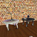 QT Fae Tables & deco - black & white