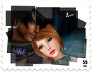 Valentine 2012 postage stamp