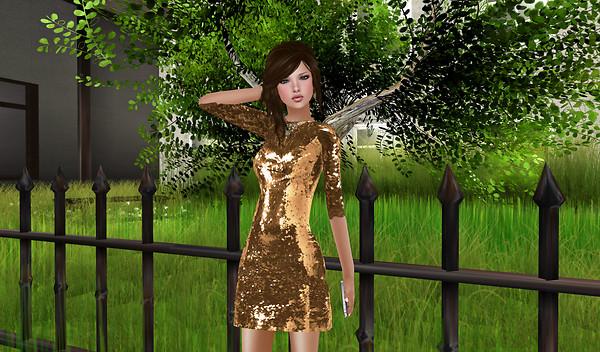 -tb- Sequin Dress - Gold Tres Blah  Jan 2012