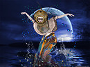 A Surrealistic Swim In The Moonlight