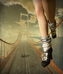 my new shoes meet the golden gate bridge
