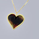 QT Valentine Pendant - golden black