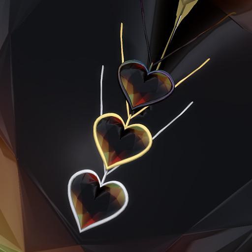 QT Valentine Pendant 1 Golden Black set
