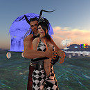 QT & AW dancing at IW Dreamz & Visionz Fantasy Art Fest