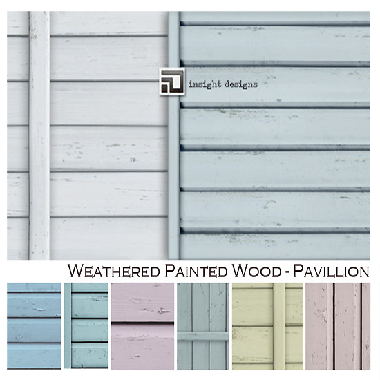 weathered painted wood PAVILLION by insight designs