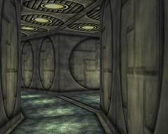 Alpha Station - A service corridor