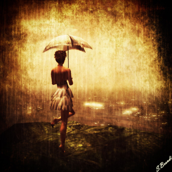 Rain on the sea