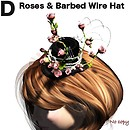 Roses & Barbed Wire Hat Pink