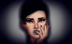Lips made of diamonds