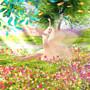 dancing in a flowerfield with butterflies
