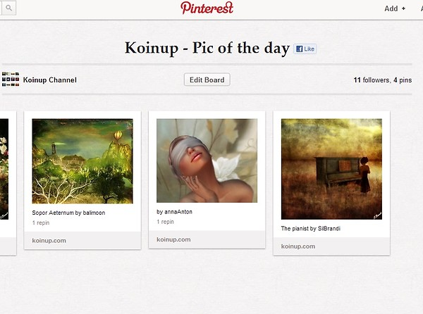 Koinup Pinterest Channel