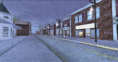 Dawn Street Scene