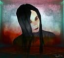 Vlad Mlad vampire artist, autoportrait