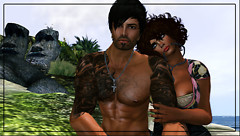 Ballsy and Valky at the beach