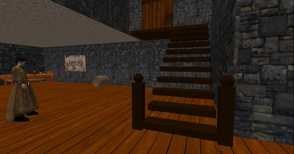 Roderick Works on the stairs in OpenSim