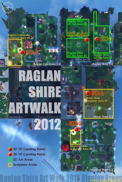 Raglan Shire Art Walk 2012 / MAP2